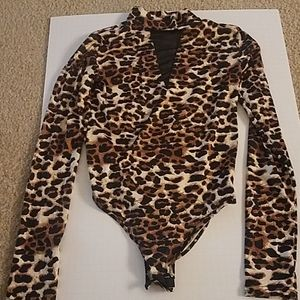 CHEETAH ANIMAL PRINT BODYSUIT